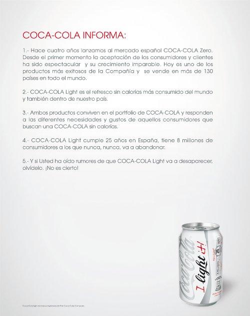 nota de prensa coca-cola