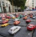 TomTom montó un atasco en miniatura con más de 12.500 coches