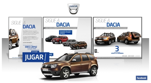 Dacia Advergaming Facebook