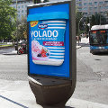 Danone usa exterior de alto impacto para su nuevo yogur helado