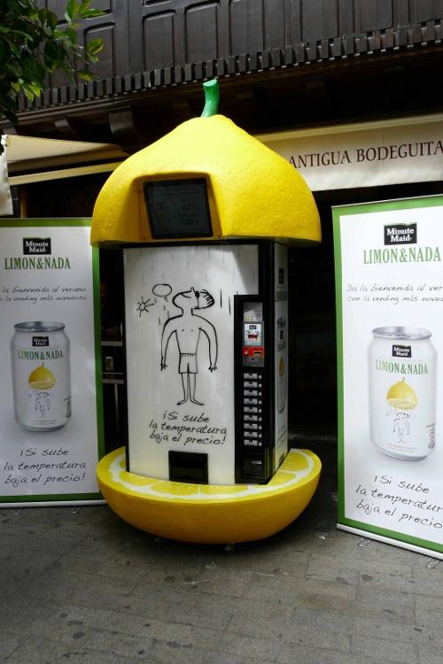 Máquina de vending de Limon&Nada que varía el precio según la temperatura
