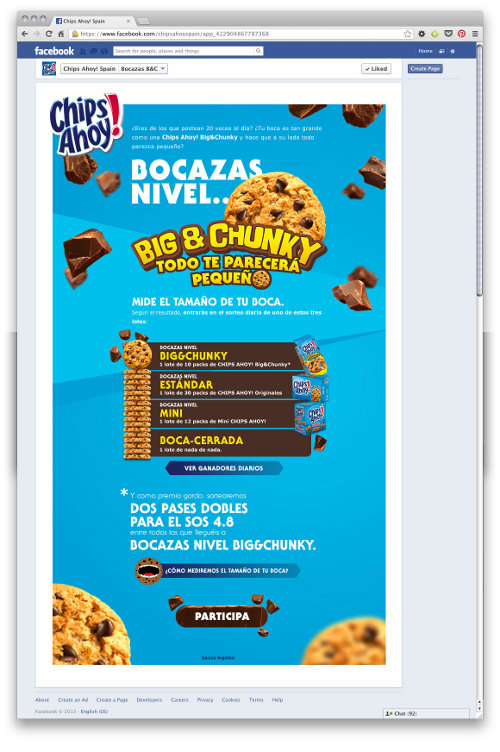 Chips Ahoy! promociona sus galletas más grandes con una app en Facebook - Noticia - Gran Consumo - MarketingNews.es