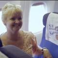Emotiva acción de KLM en los asientos de un avión
