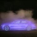 Audi crea una valla publicitaria con vapor de agua