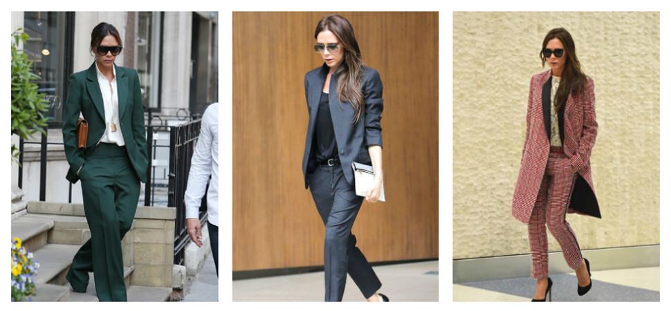 Los trajes no son solo para hombres y Victoria Beckham lo sabe