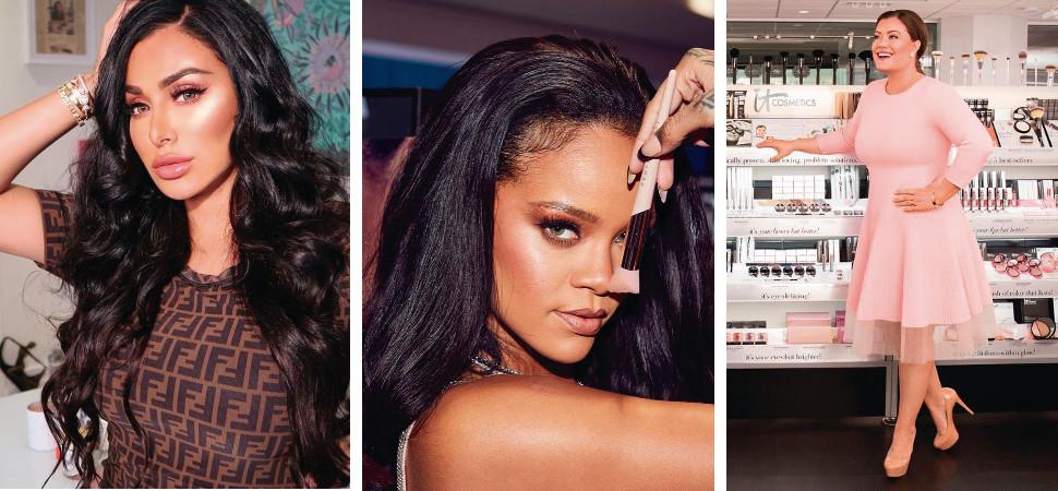 Huda Kattan, Rihanna y Jamie Kern Lima. Fotos: @hudabeauty, @fentybeauty y @jamiekernlima.