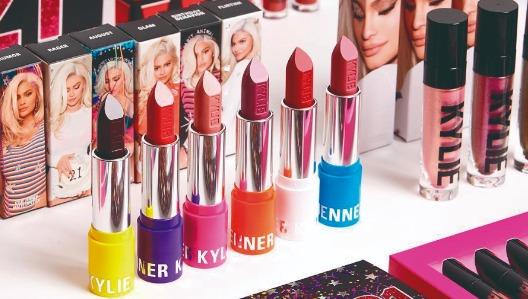Productos de la marca creada por Kylie Jenner