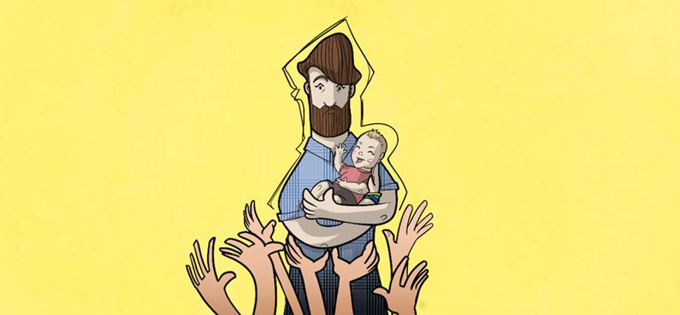 100 crisis de un papá primerizo, en versión cómic
