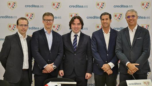 Desde el pasado mes de septiembre, Creditea es patrocinador del Rayo Vallecano