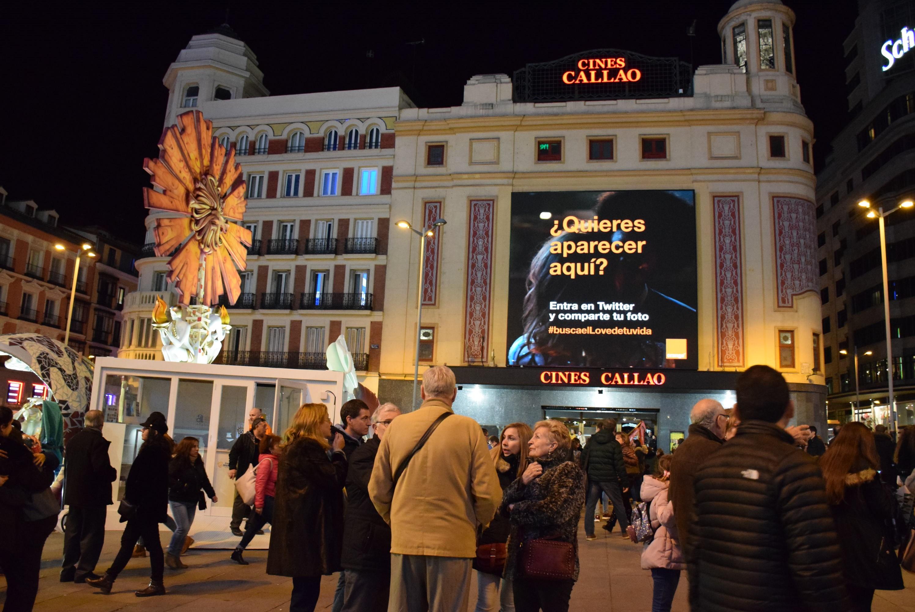 Las pantallas Callao City Lights