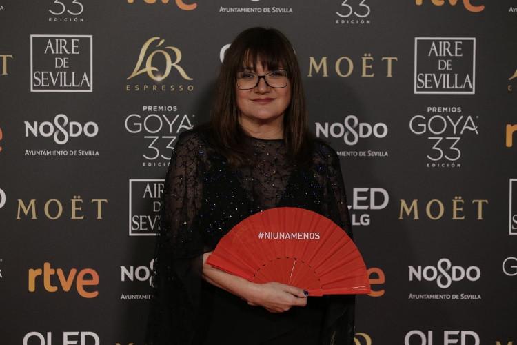 Isabel Coixet en la alfombra roja. Foto: Premios Goya