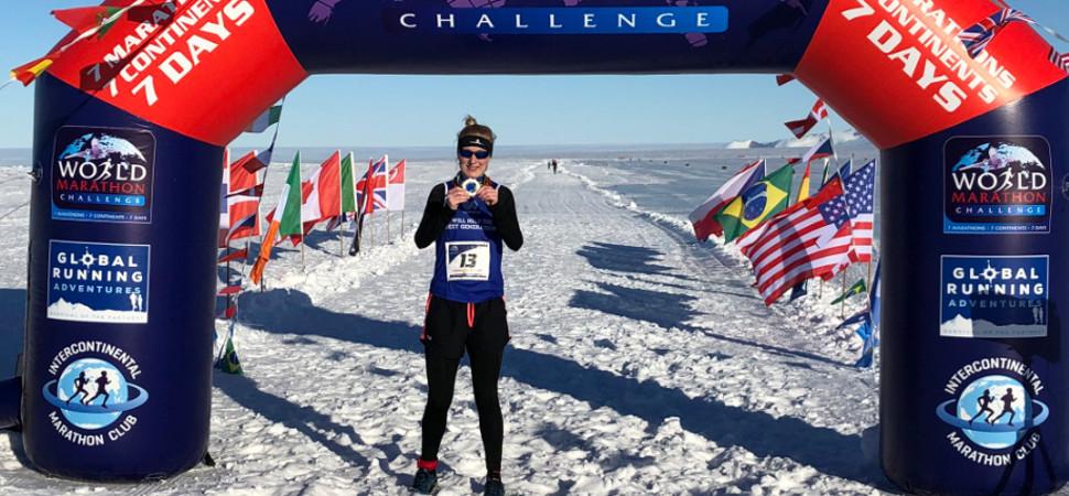 Una corredora británica completa siete maratones en siete días y siete continentes