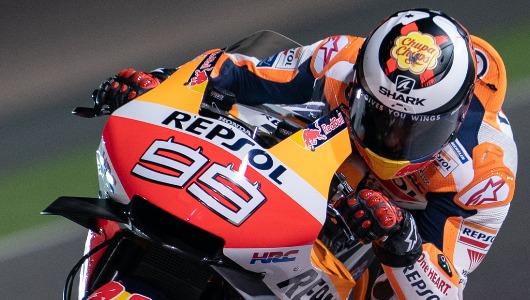 El logotipo de Chupa Chups se ve claramente en el nuevo casco de Lorenzo