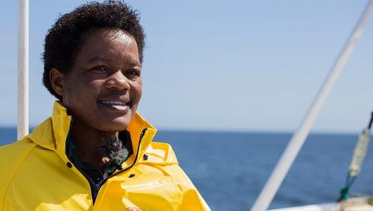Nelago Kwedhi, la primera mujer de Namibia que ha conseguido el título de capitana de barco