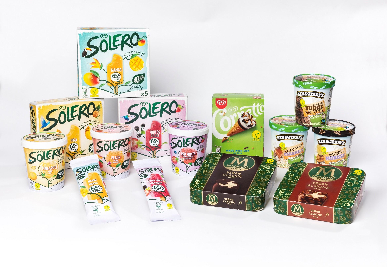 La gama de helados veganos de Frigo