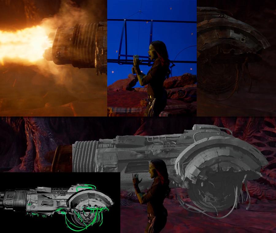 Un ejemplo del trabajo de layout en 'Guardianes de la Galaxia Vol. 2'