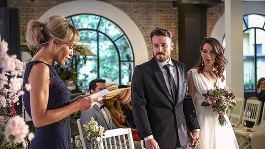 Imagen de la boda que celebró C&A para presentar su primera colección de vestidos de novia