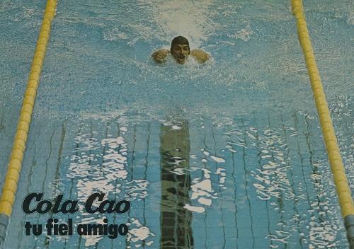 Mark Spitz en una publicidad de ColaCao de 1974