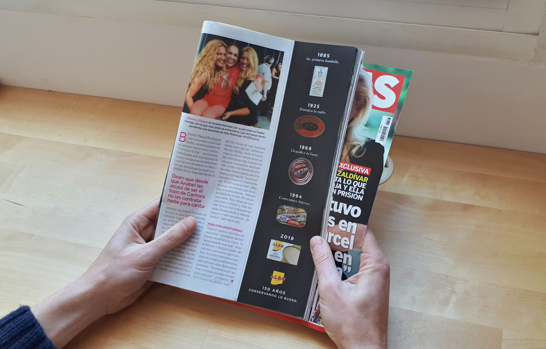 Gráfica de Albo para revistas