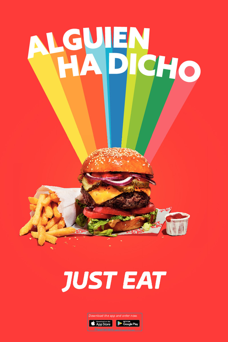 Gráfica de McCann London para Just Eat