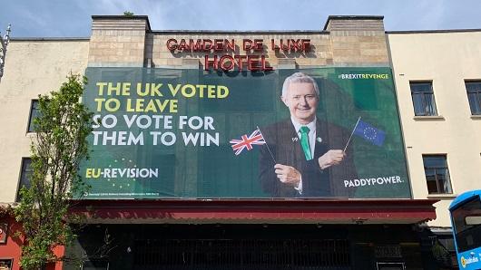 La campaña de exterior de Paddy Power
