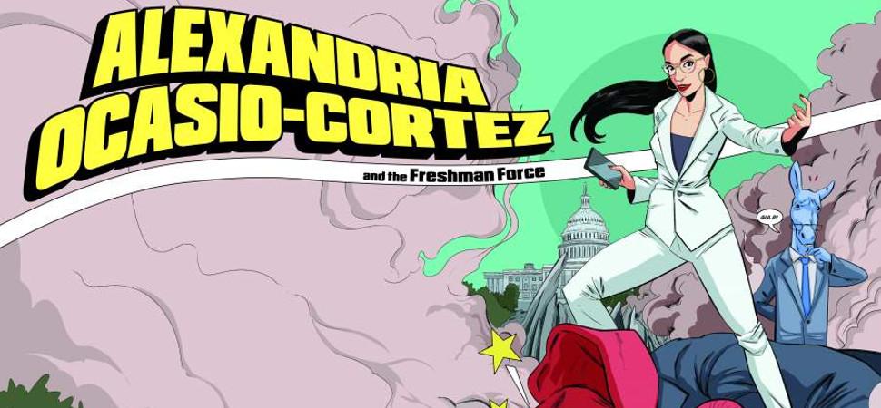 Alexandria Ocasio-Cortez ya es una superheroína de cómic