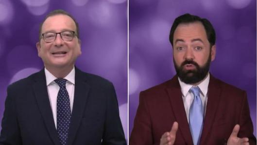 Dos de los presentadores del programa