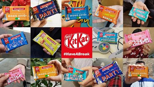 Ejemplos de algunos de los nuevos packs de KitKat