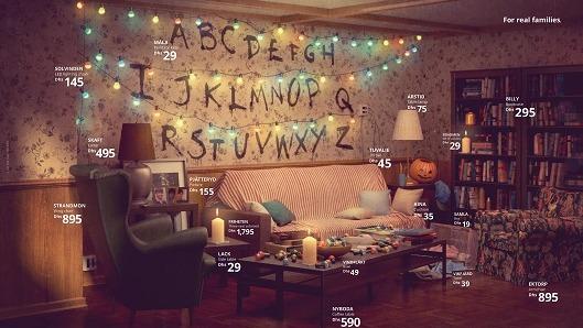 El salón de Stranger Things