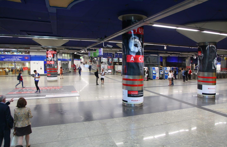 Creatividades de Santander en el Metro de Madrid