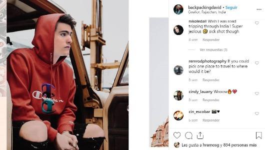 Perfil de Instagram de David
