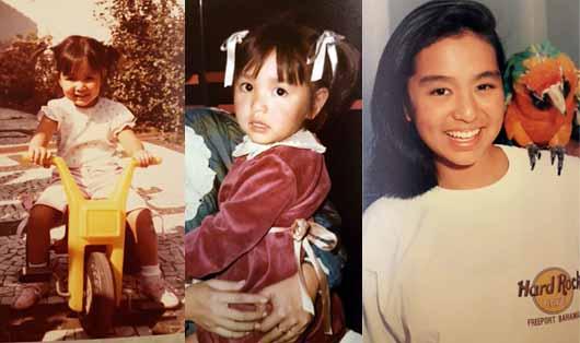 Bianca Shen, de pequeña