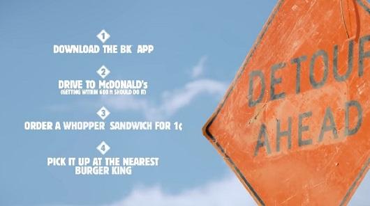 Imagen del vídeo que explica la campaña de Burger King