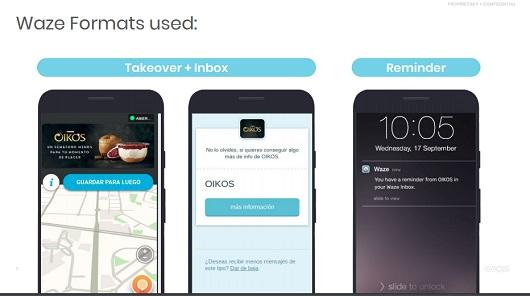 Danone ha usado la aplicación Waze para una campaña