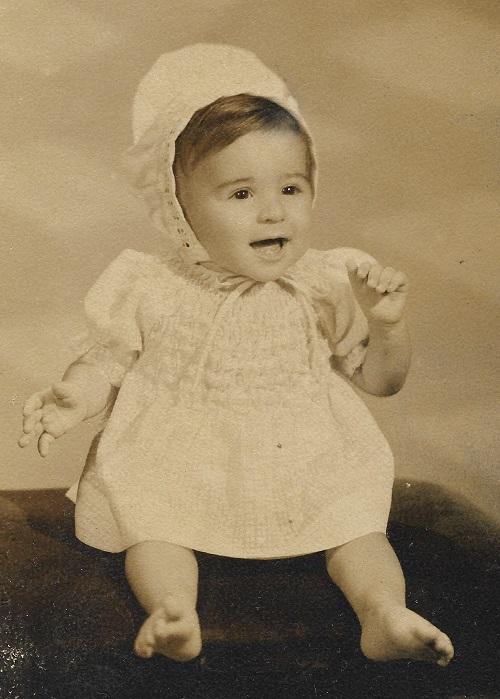 Ana Torres, de bebé