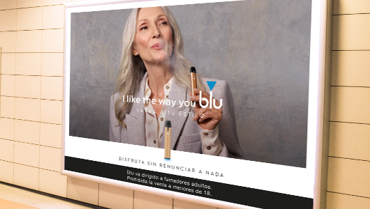 """I like the way your Blu"", claim de la campaña exterior"