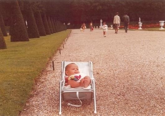 Laura Fontanet, de bebé