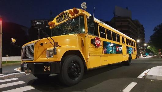 Un autobús escolar americano será el centro de la acción