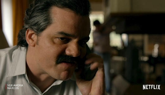 """Los maratones de series, """"como Narcos"""", en Netflix, aliados para pasar la cuarentena."""