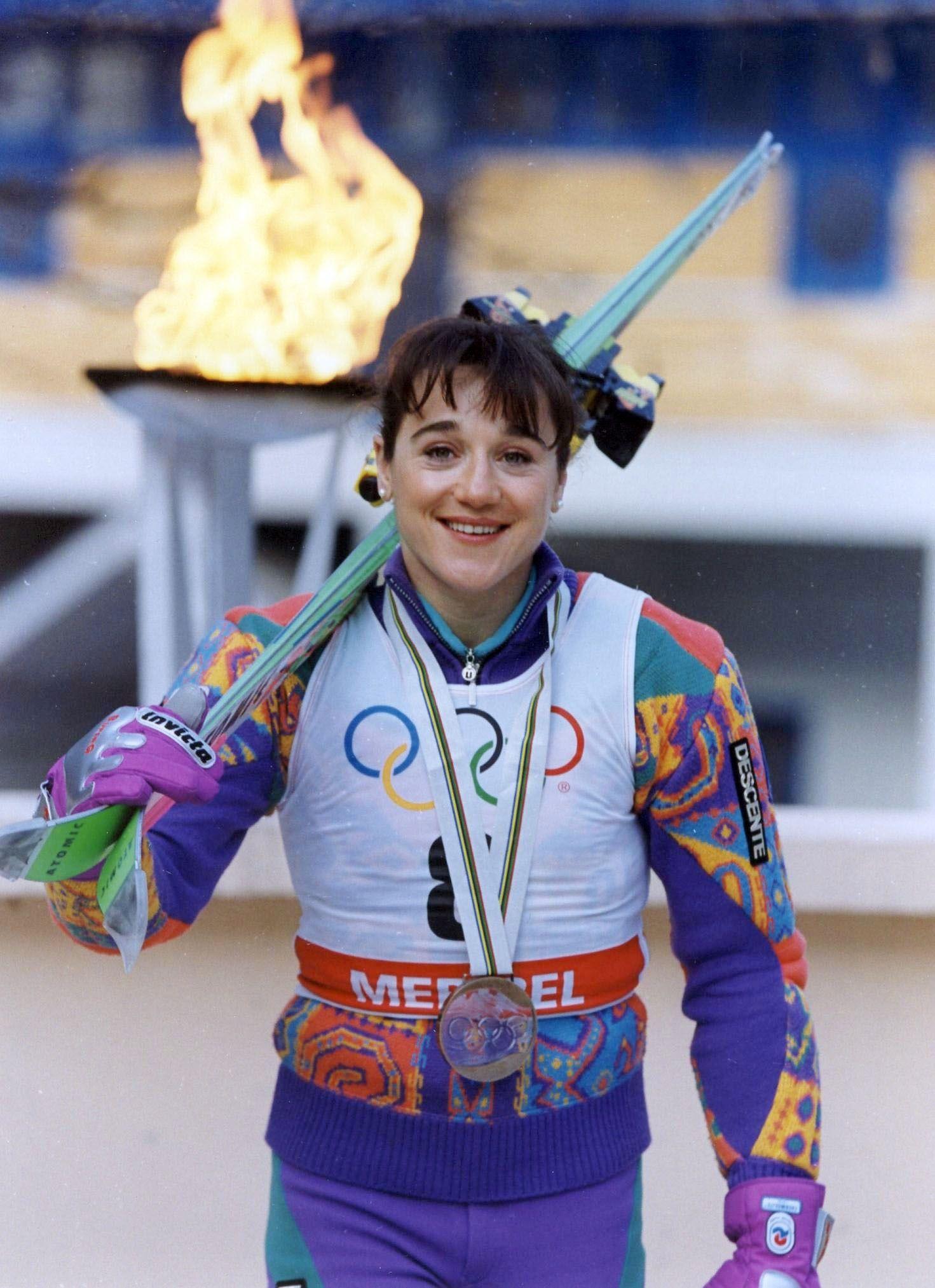 Blanca Fernández Ochoa, en los Juegos de Albertville. Foto: Instagram.
