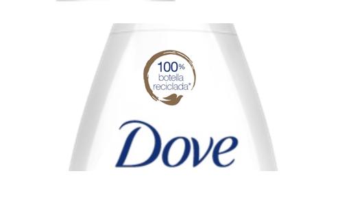 Dove está lanzando nuevas botellas con plástico 100% reciclado