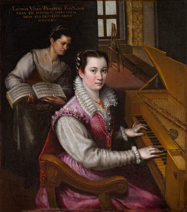 Autorretrato de Lavinia Fontana (1577).