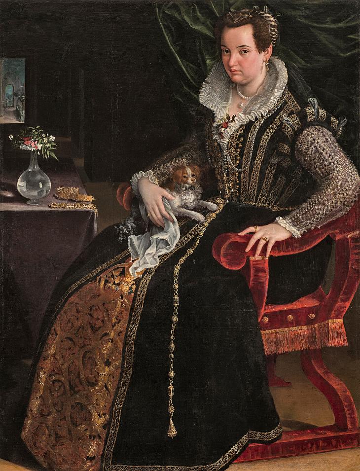 Costanza Alidosi por Lavinia Fontana (1595).