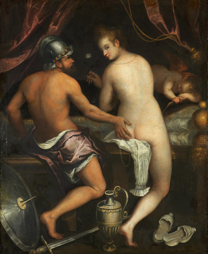 Marte y Venus por Lavinia Fontana (1600-1610).