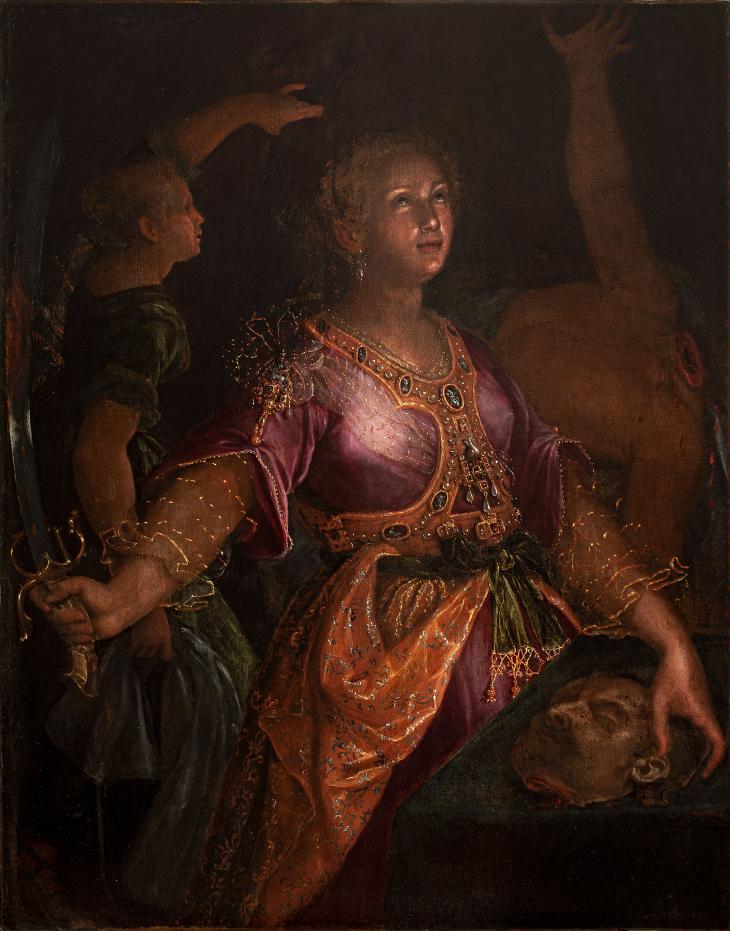 Judith y Holofernes por Lavinia Fontana (1595).