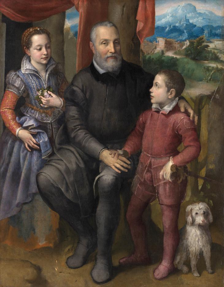 Retrato de familia de Sofonisba Anguissola (1558).