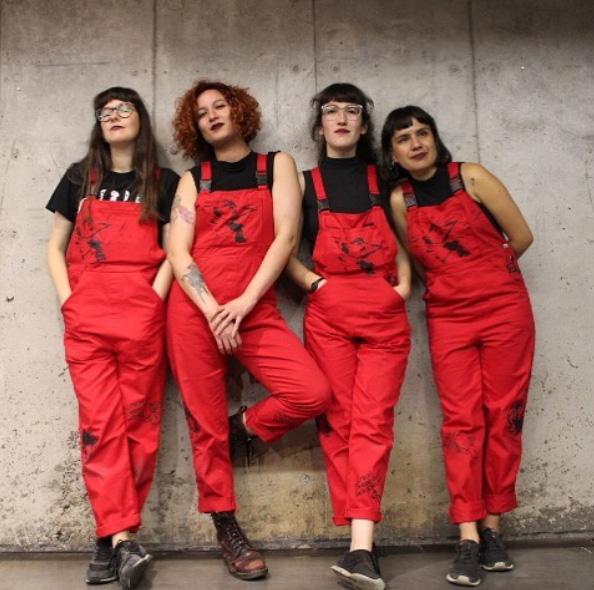 Ellas son las integrantes del colectivo Lastesis, iniciador de las protestas.
