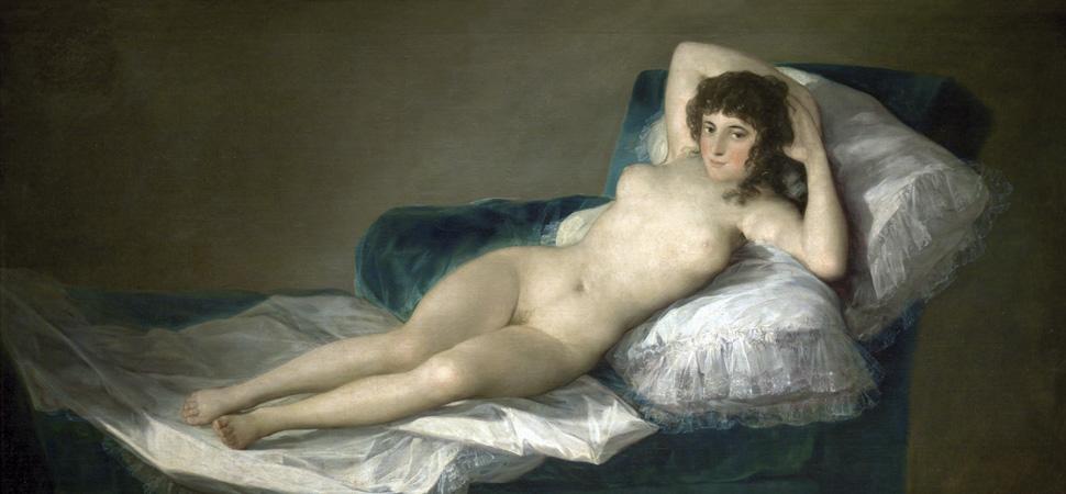 'La maja desnuda', Francisco de Goya y Lucientes (1795-1800).