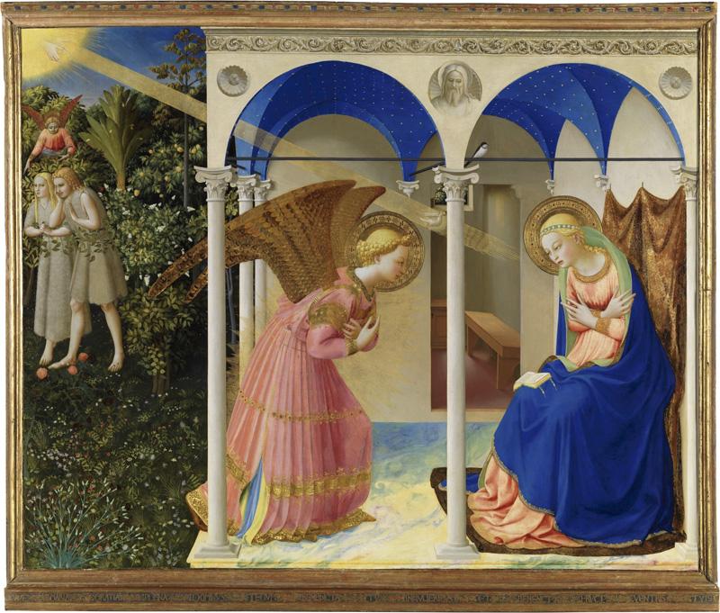 'La anunciación', Fra Angélico (1425-26).