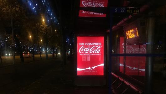 La campaña de exterior de Coca-Cola ha suscitado un enorme interés